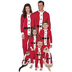 6e18fa7a85 ... new arrival 5d775 dac49 PajamaGram Santa Suit Christmas Matching Family  (including dog) Pajama Set ...