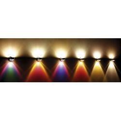 Photo of Top Light Puk Floor Mini Twin Stehleuchte chrommatt 2x Linse klar / 2x Glas matt Standard-Fassung To