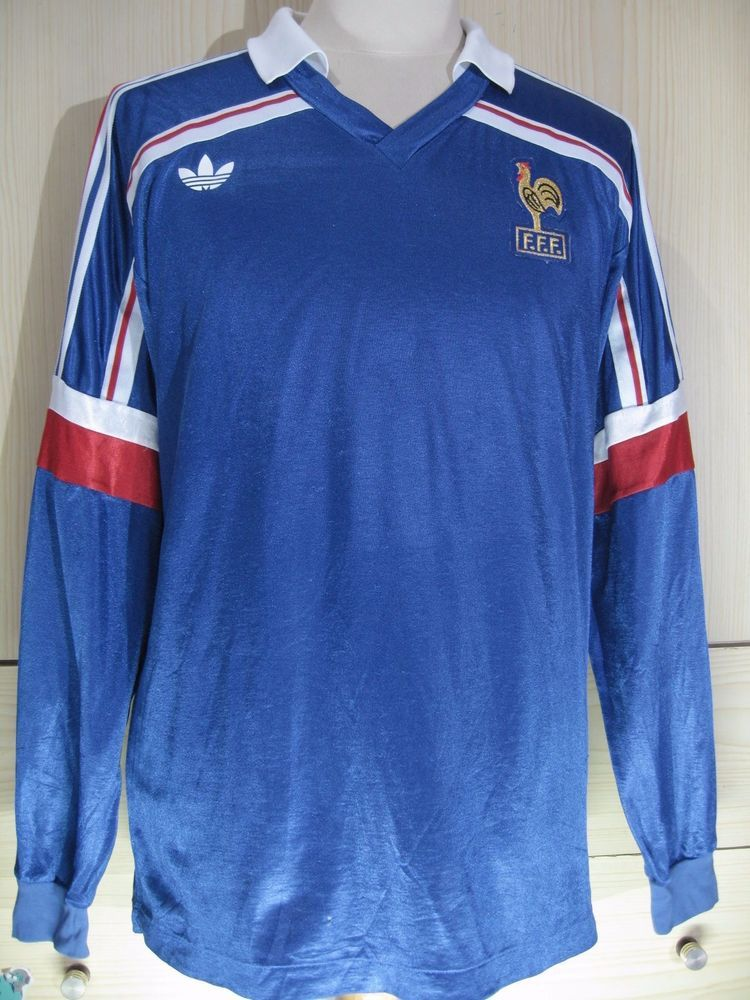 9e6bd9647 MICHEL PALTINI FRANCE WORLD CUP 1986 MAILLOT VTG FOOTBALL JERSEY SOCCER  SHIRT XL #ADIDAS #FRANCE