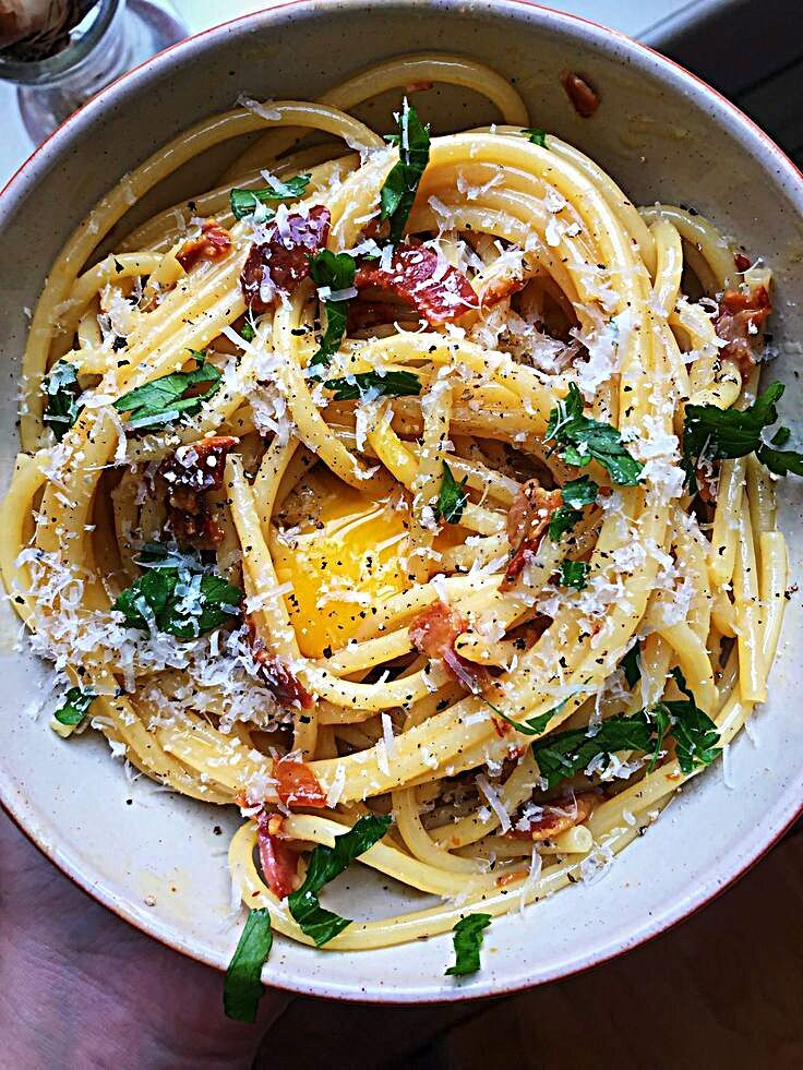 Bucatini carbonara recipe in 2020 best pasta recipes