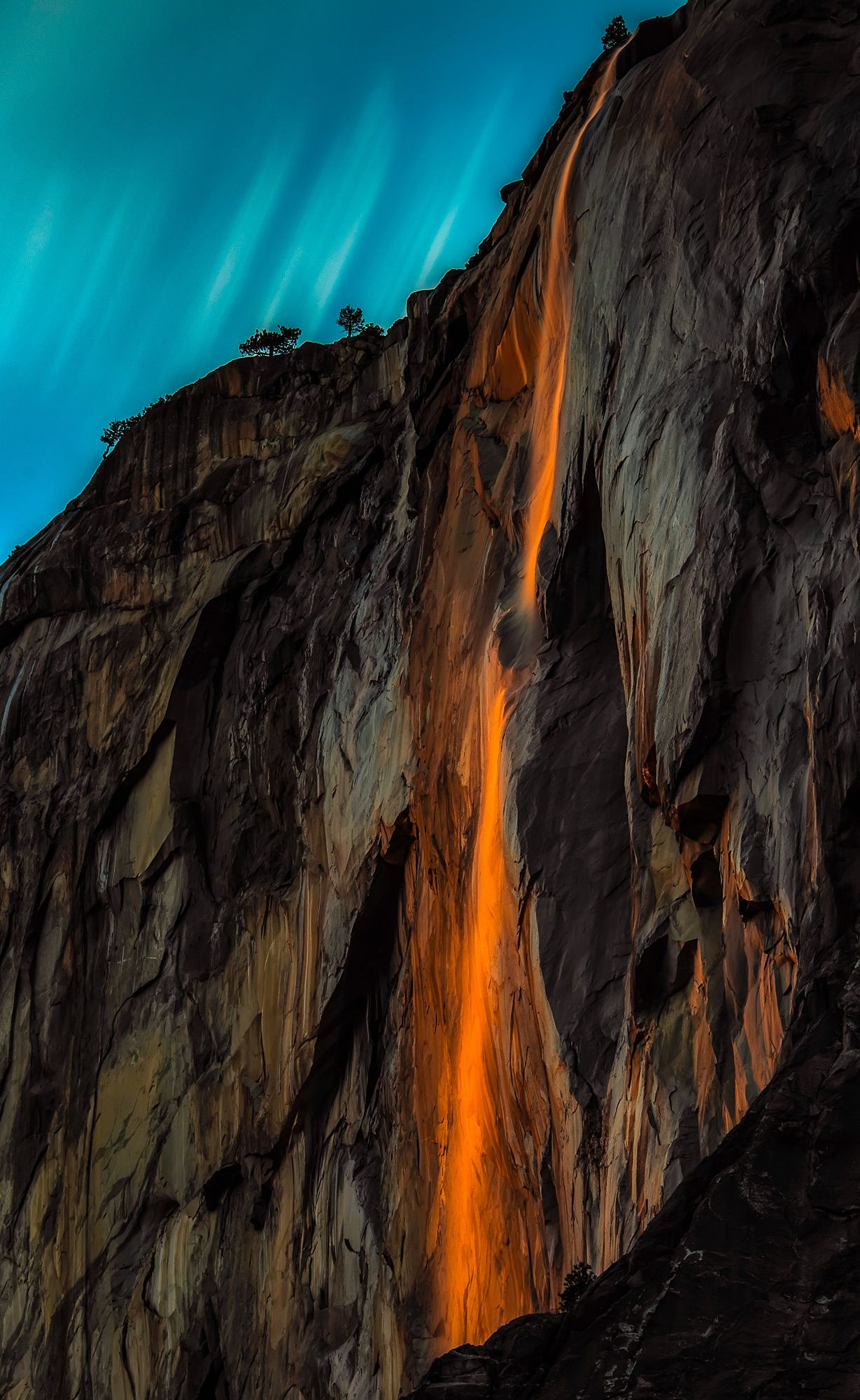 Horsetail Fall Sunset II - null