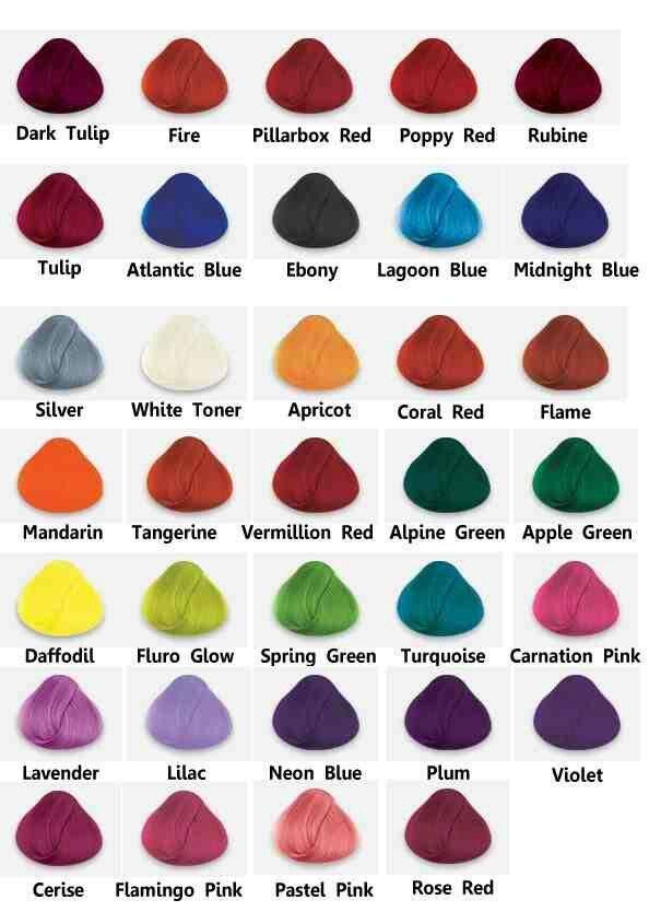 directions color chart: La riche directions semi permanent hair colour dye all colours