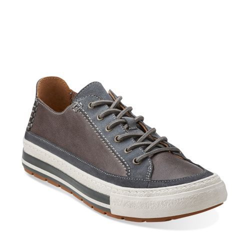 Nepler Vibe Grey Leather - Men's Oxfords and Lace Up Shoes - Clarks