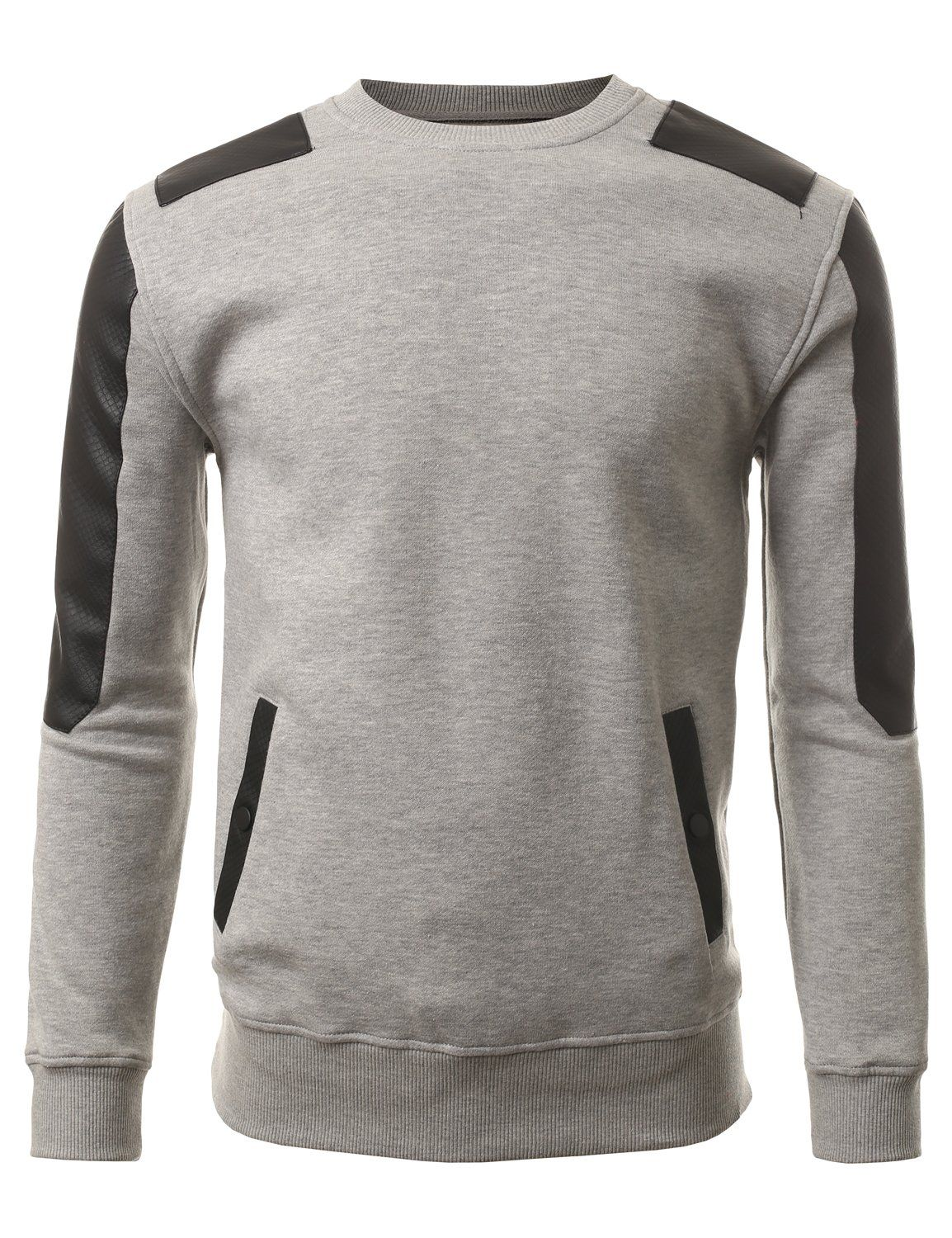 X-Future Men Crew Neck Pullover Knit Long Sleeve Slim Fit Sweater