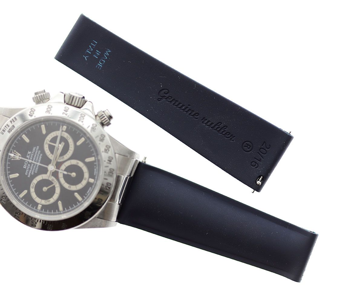 Night Blue Natural Rubber Band for Rolex Daytona Watches 20mm by Visconti Milano  #rolexdaytona