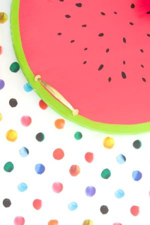 Oh So Beautiful Paper: DIY Tutorial: Watermelon Serving Tray
