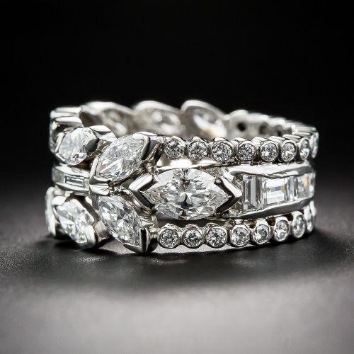 Fancy Wide Diamond Wedding Band 10 1 6338 Lang Antiques Wide Diamond Wedding Bands Diamond Wedding Bands Estate Wedding Ring
