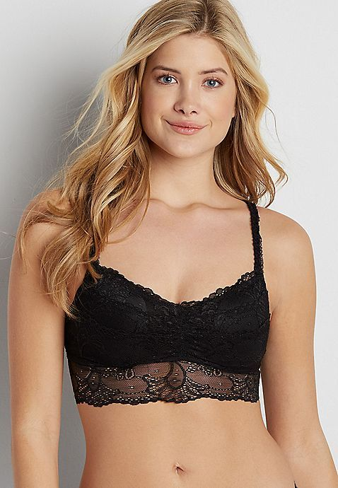 aa27e2f9d22 lace bralette with strappy back