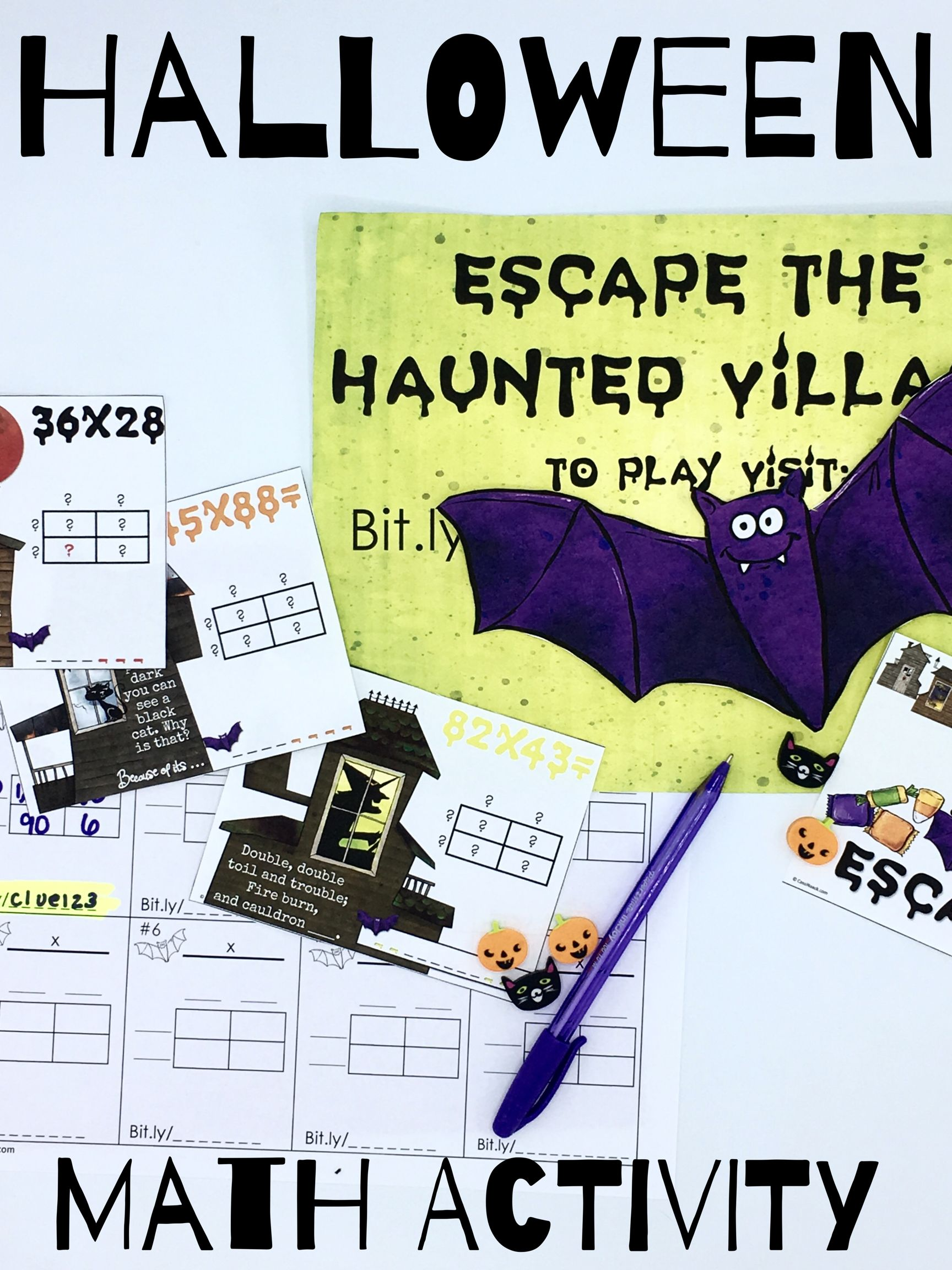 Halloween Escape the Haunted Village Multiplication