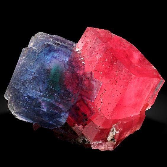 Fluorite And Rhodochrosite From Alma Colorado