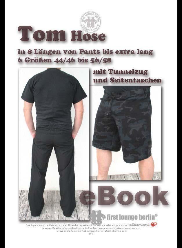 Tom♡ ebook Hose XXS-3XL Bildernähanleitung Schnitt | Tunnelzug ...