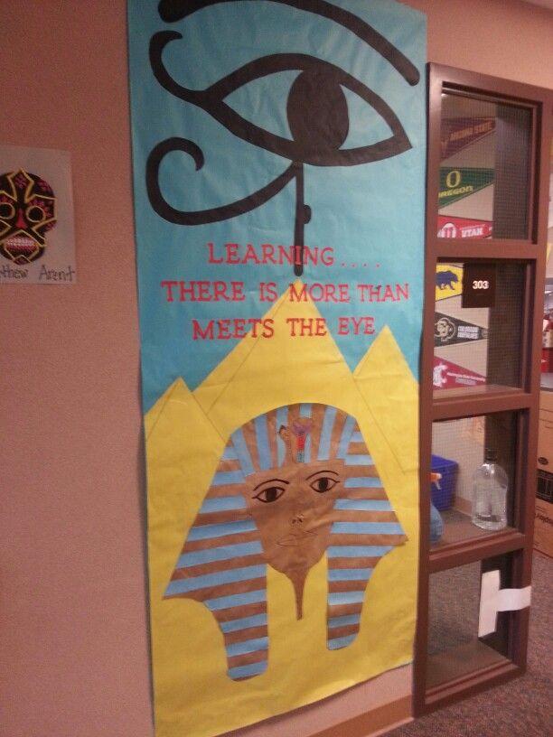 Egyptian Classroom Decor ~ Ancient egypt classroom doors pinterest