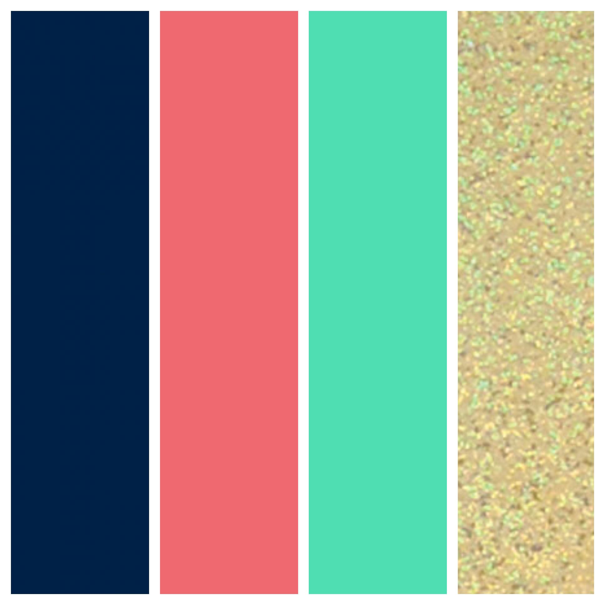Wedding Color Palette. Navy, Coral, Seafoam, and Gold ...