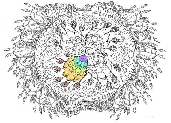 Adult Coloring Page Alien World Doodle Printable Colouring Zen - copy animal coloring pages that you can print