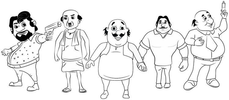 Free Printable  Motu Patlu Coloring Pages For Little Ones