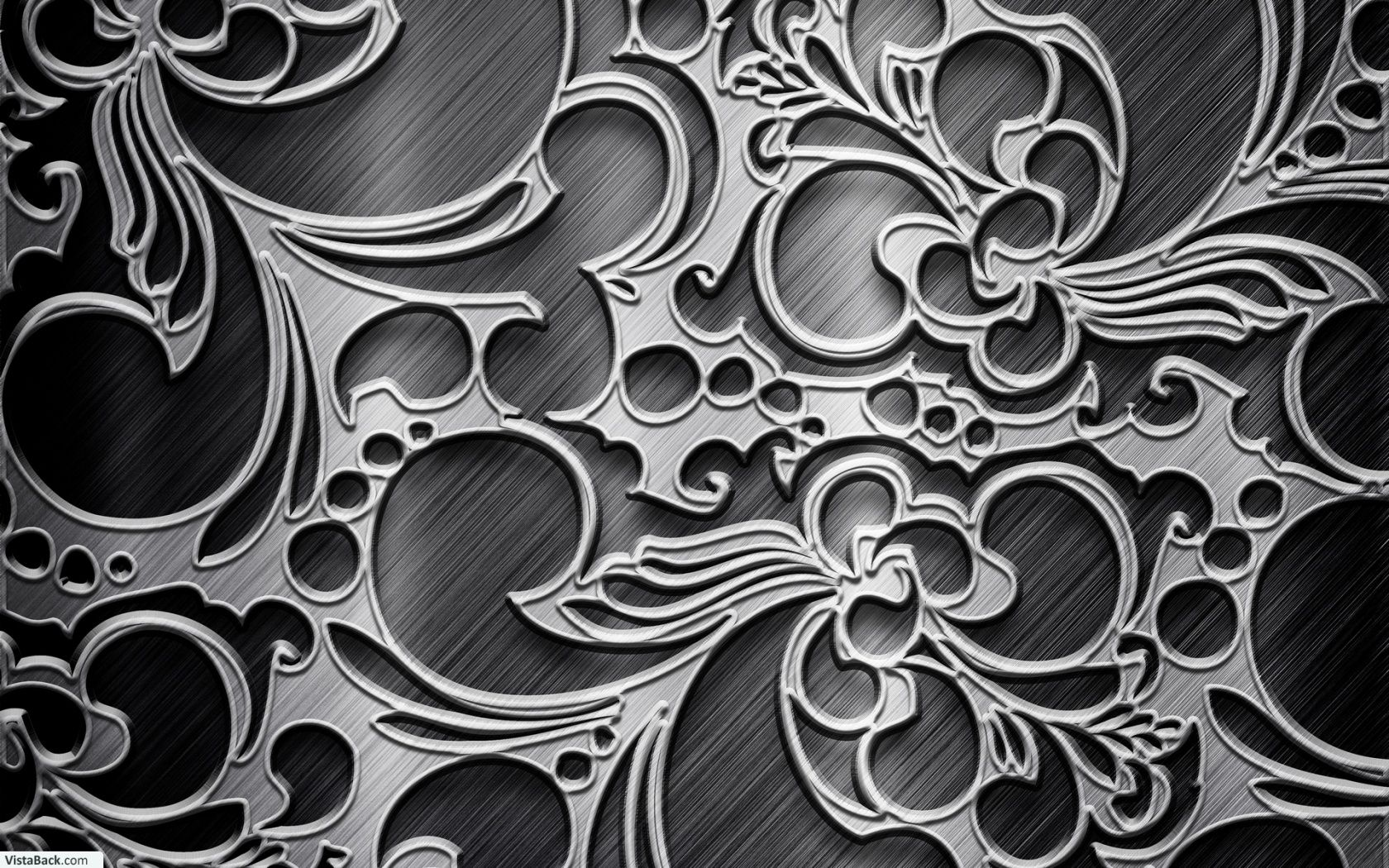 Texture Metallic Black Silver Pattern Wallpaper Silver Wallpaper
