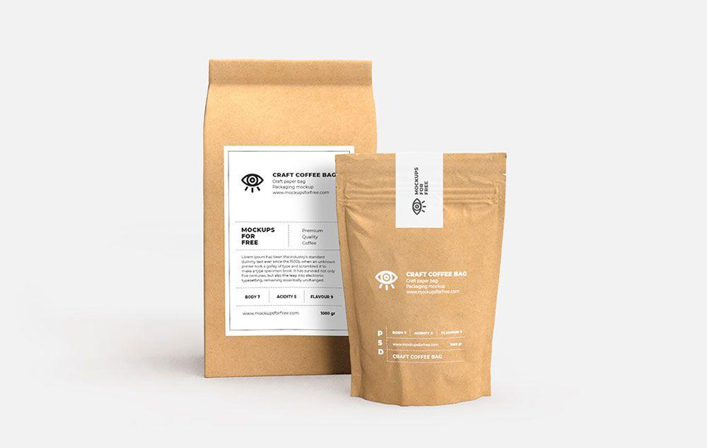 Download Free Craft Paper Bags Mockup Mockuptree Paper Crafts Bag Mockup Free Business Card Mockup