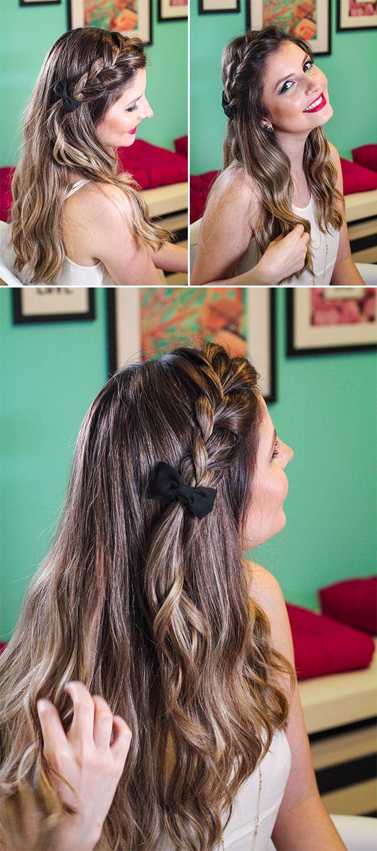 3 penteados fáceis de tranças para o Reveillon!