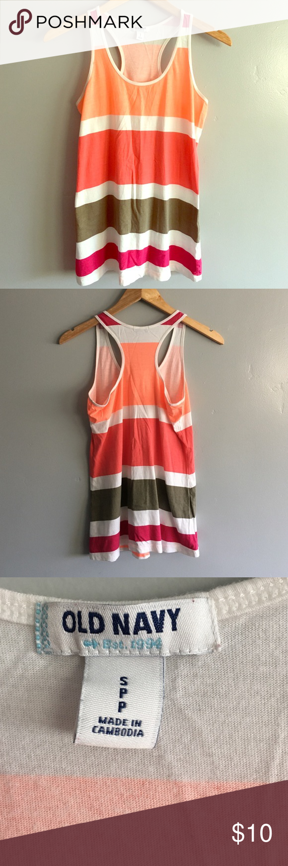 Old Navy Striped Tank In excellent condition! Super cute by itself or with a cardigan or Jean jacket. Old Navy Tops Tank Tops