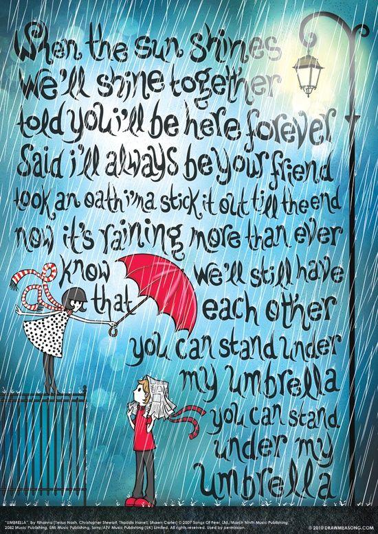 Umbrella Rihanna Songteksten Woorden En Typografie Posters