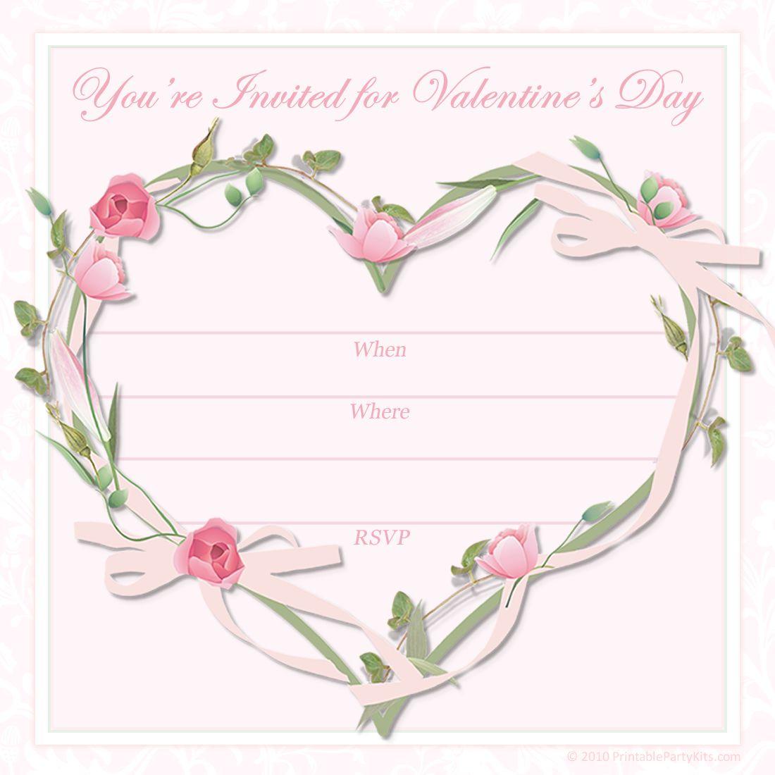 Free Printable Valentine Party Invitations Pink Tea Party Tea Party Invitations Party Invite Template