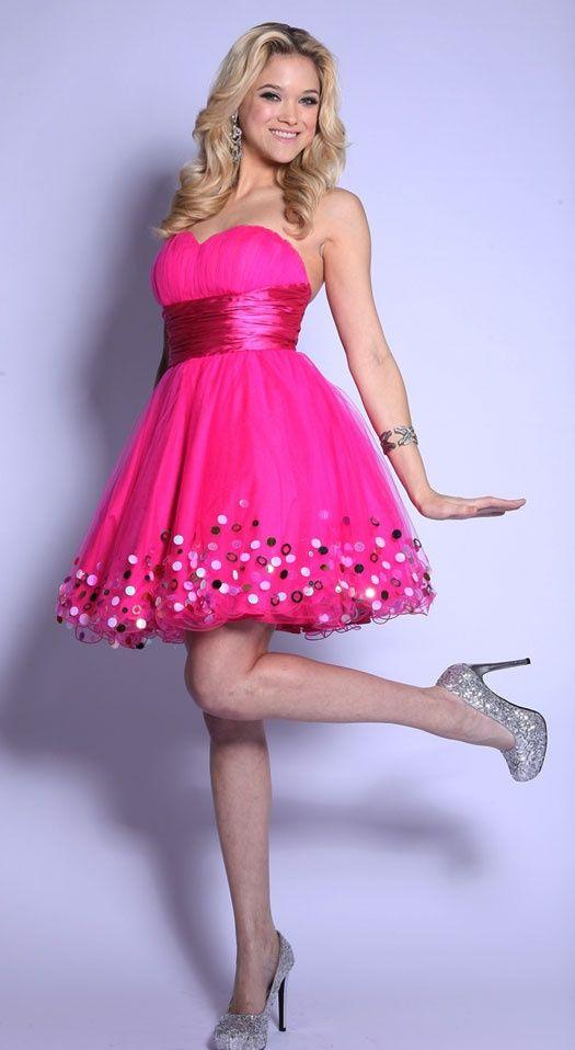 Lindos Vestidos de Fiesta Strapless Cortos para Verano | Vestidos ...