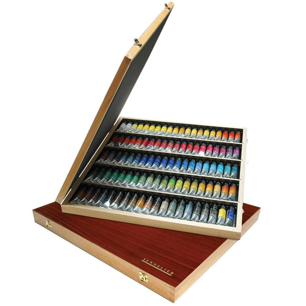 Sennelier L Aquarelle Artists Watercolor Metal Case Set Of 6