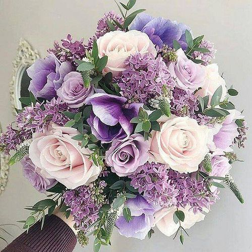 Photo #purpleweddingflowers