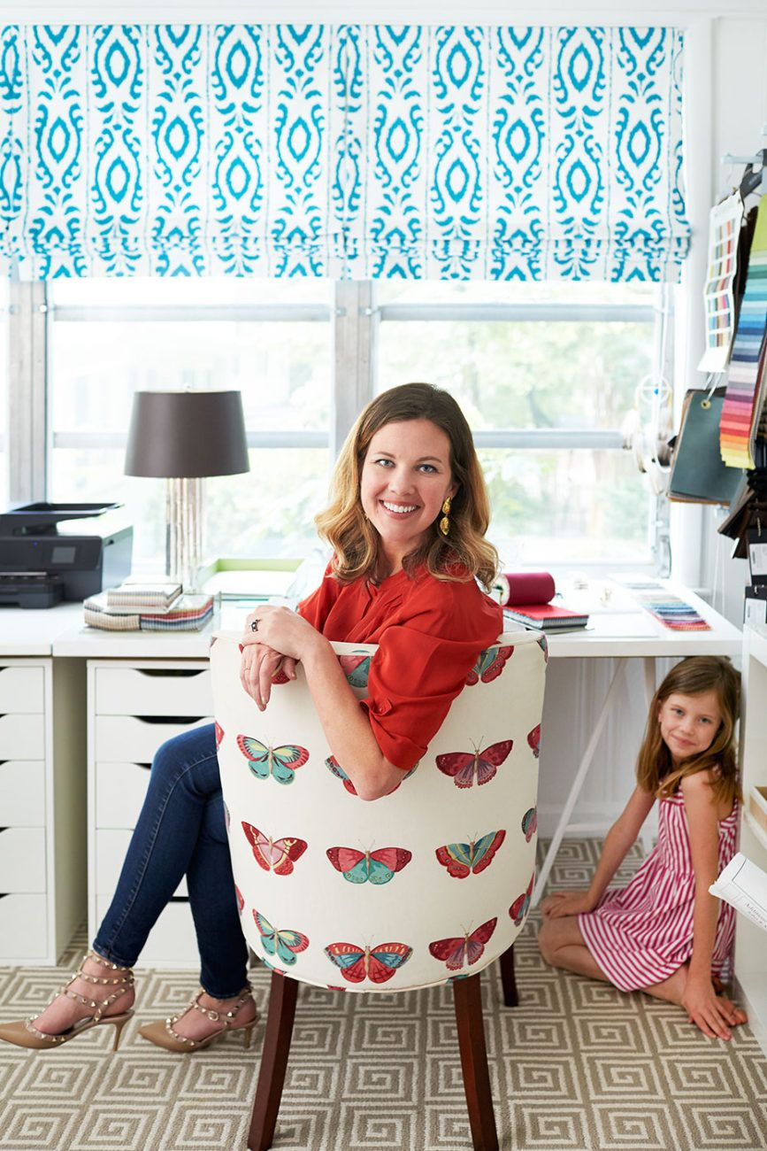 Kara Cox Interiors   Love That Butterfly Fabric!