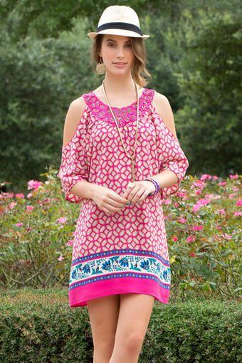 Kanae Cold Shoulder Printed Dress