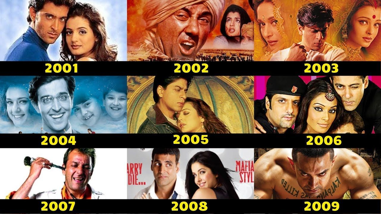 Every Year Bollywood First And Second Highest Grossing Movies List From Highest Grossing Movies Bollywood Movies List Bollywood Movies