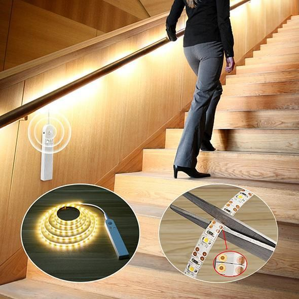 LED Smart Lights  Holiday Promotion60 OFF  Ideal for your Houses Closet Wardrobe Cabinet Under Counter Bedroom Workshop Basement Garage Stair etc When you move the light...