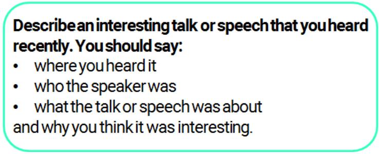 Ielts Speaking Part 2 Mark Teacher Ielts Teacher Speaking