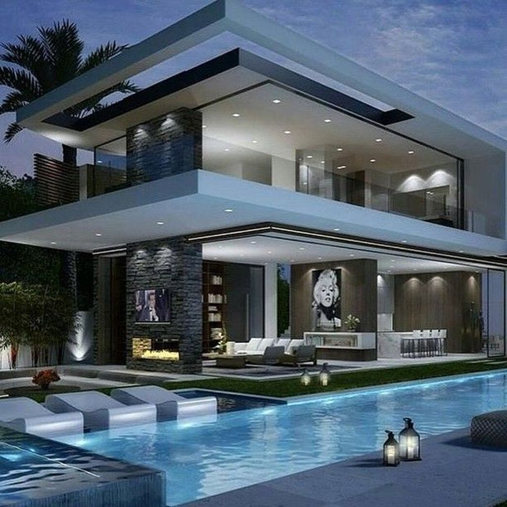41 Extravagant Houses With Unique And Remarkable Design is part of Modern mansion - The Hollywood Hills are in the neighborhood of Los Angeles, California in the Santa Monica Mountains  It has Beachwood Canyon, […]