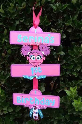 sesame street door sign abby cadabby & sesame street door sign abby cadabby | Sesame Street Party Ideas ...