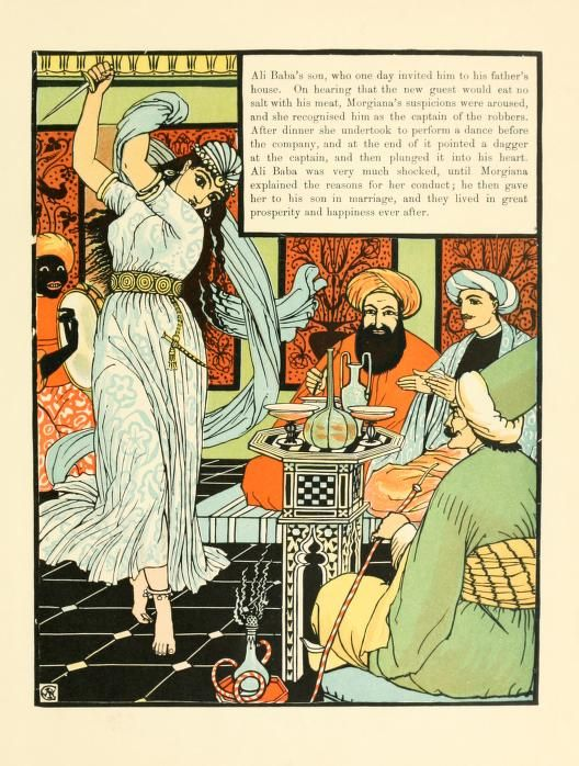 Walter Crane Ali Baba And The Forty Thieves Walter Crane