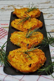 Mediterrane Kürbispuffer in Herzform – Rezept für einen Snack, der im Herbst toll ist!
