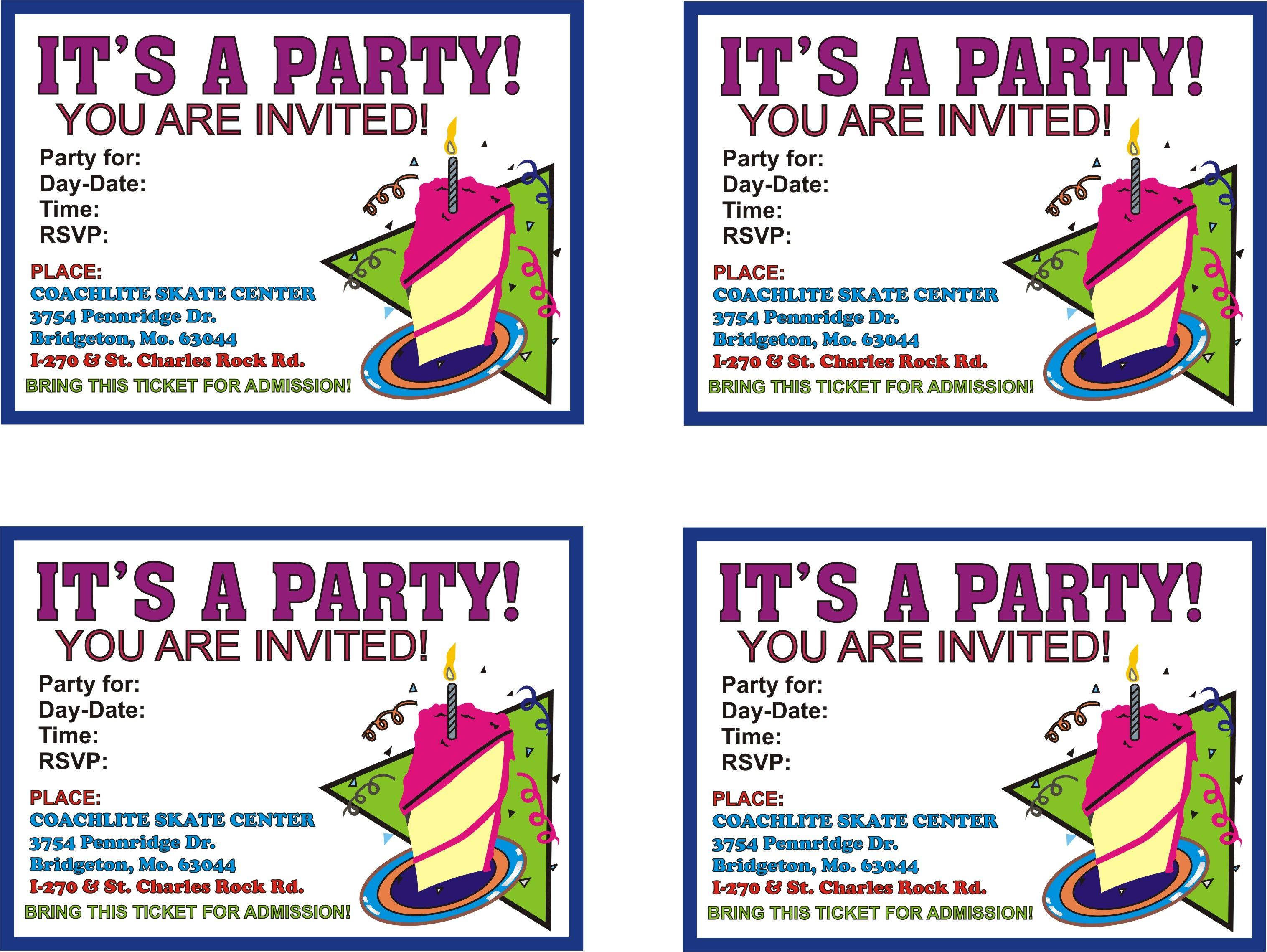 Printable Birthday Invitations Ideas For Evan