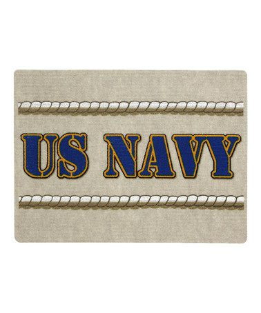 Take A Look At This White Us Navy Doormat By Mohawk Home