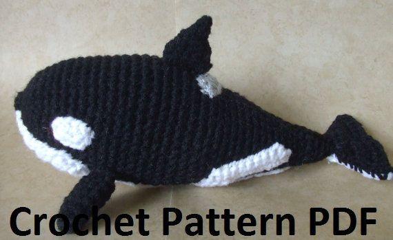 Free Crochet Amigurumi Whale Patterns : Orca killer whale crochet pattern by craftfrogpatterns on etsy