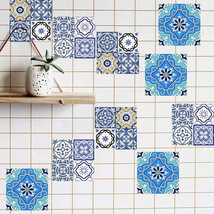 Spanish Styled Mosaic Wall Tile Stickers In 2020 Mosaic Tile Stickers Mosaic Wall Sticker Wall Art