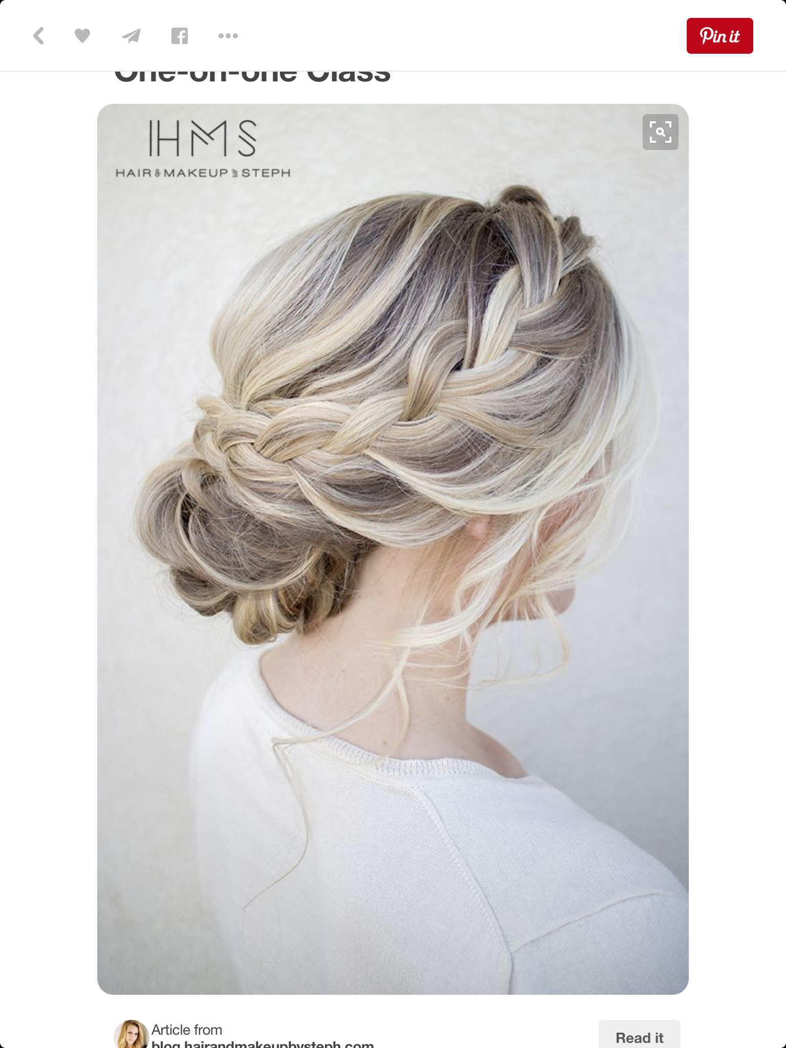Gorgeous cascading bun. | {Hair Art.} | Pinterest | Prom hair, Hair ...