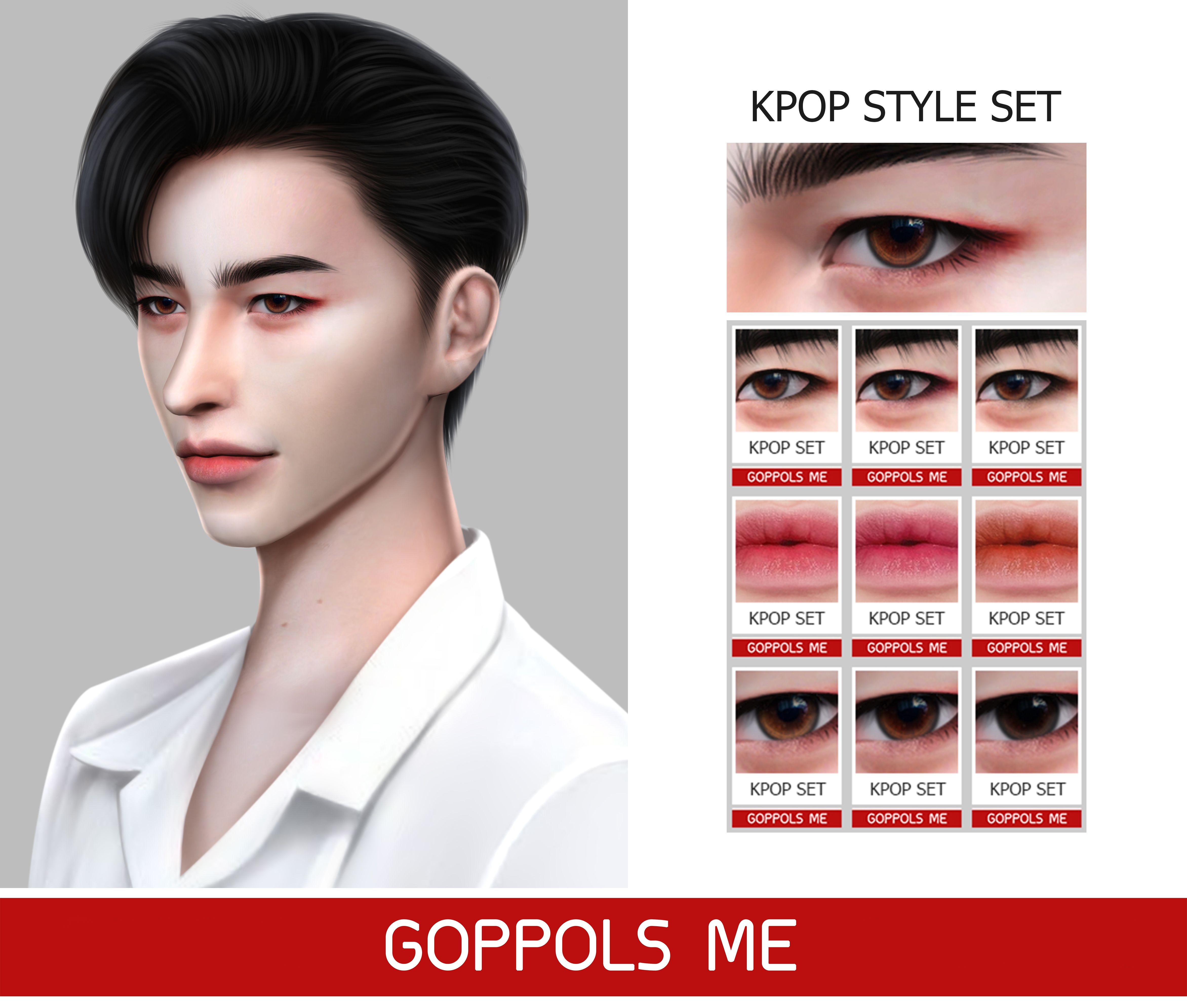 Gpme Kpop Style Set Sims 4 Hair Male Sims Hair The Sims 4 Skin