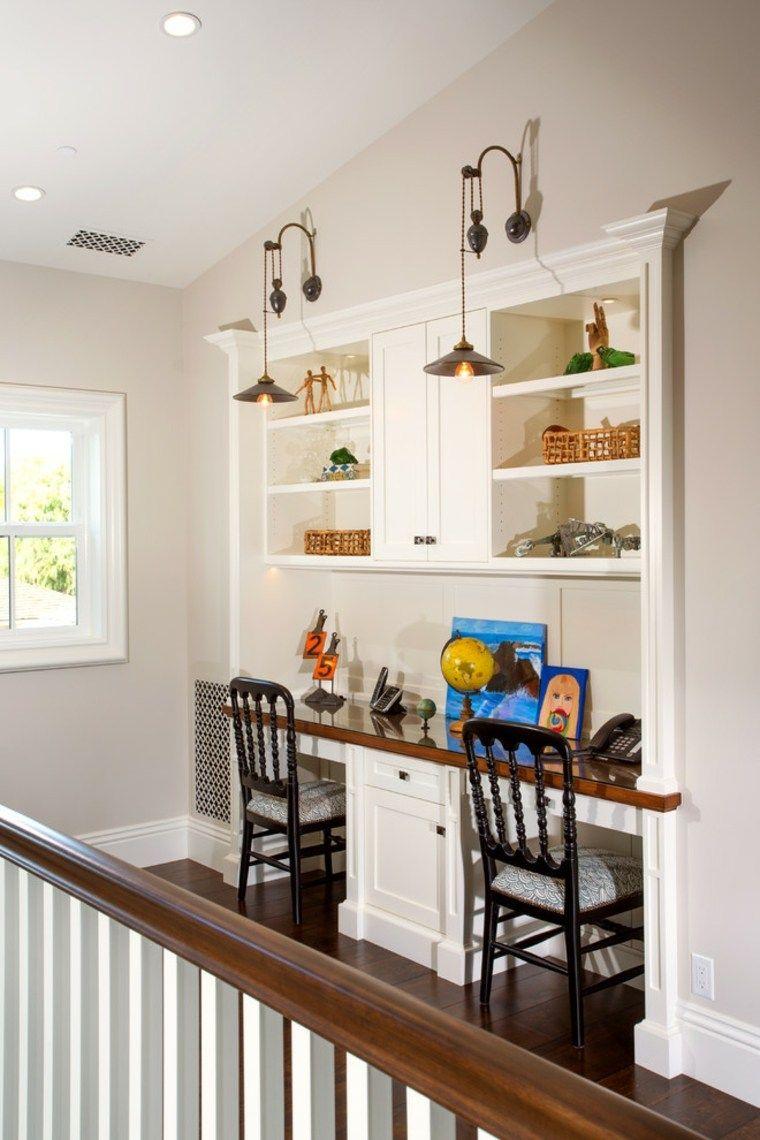 Mesa de escritorio flotante: excelentes ideas para una oficina en casa