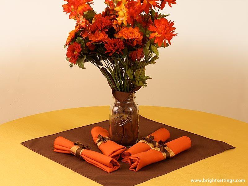 Fall Flower Mason Jar Centerpiece