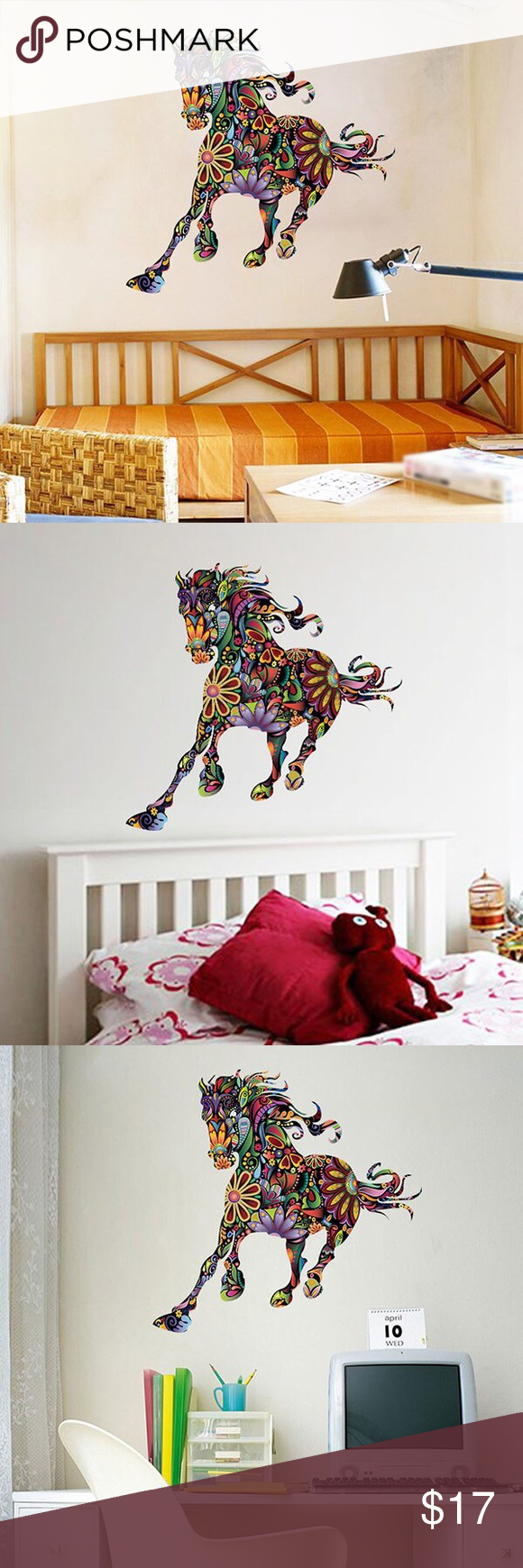 Decorative Removable Wall Art Beautiful Colorful Horse Removable Wall Art Other