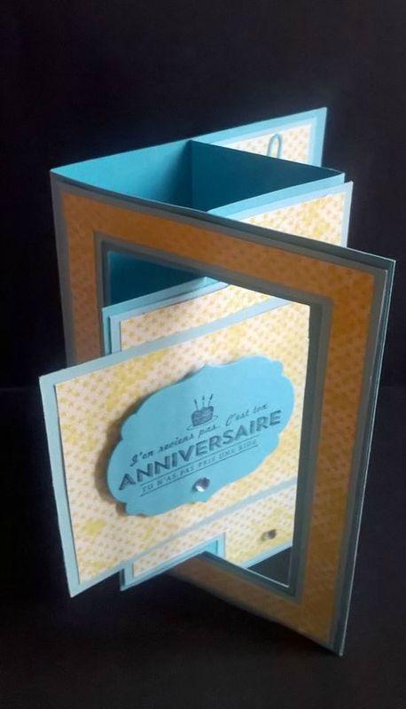 Carte D Anniversaire 3d Frogy Scrap Carte Scrapbooking Carte Anniversaire Creation De Cartes