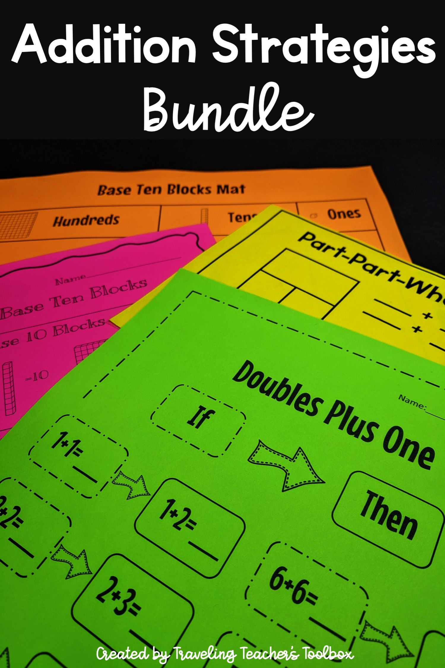 Addition Strategies Bundle In