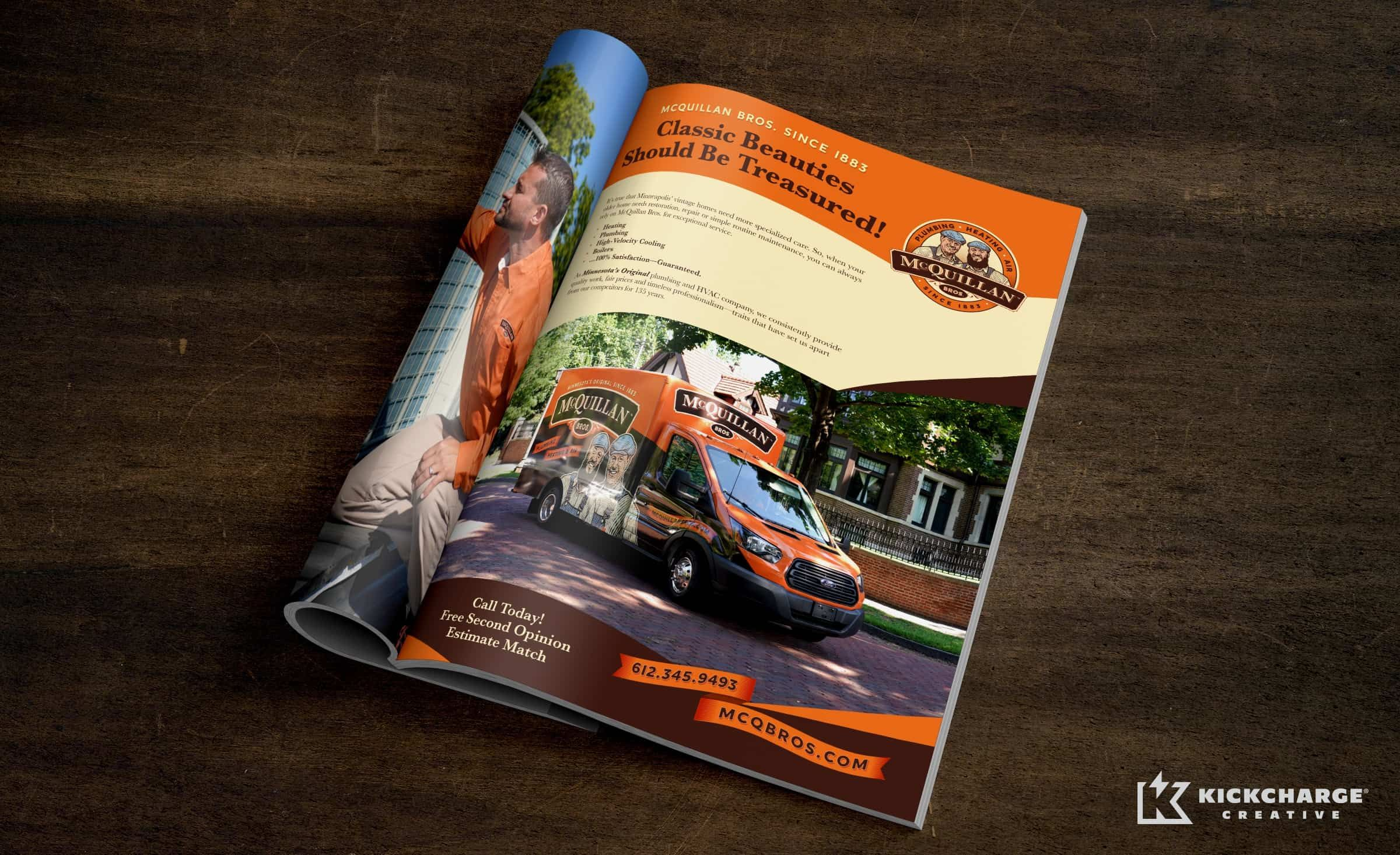 Mcquillan Bros Kickcharge Creative Print Collateral