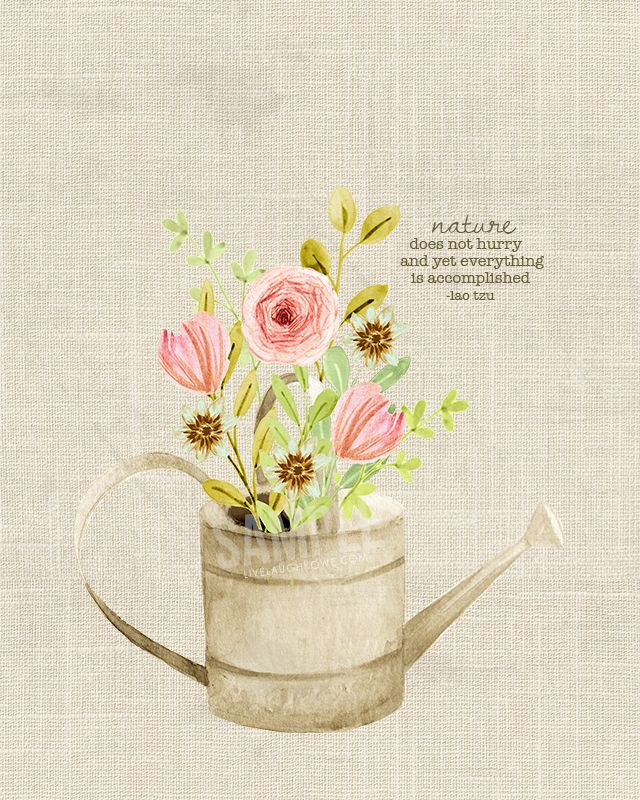 Spring Flowers Printable Wall Art with a worn, rustic feel ...